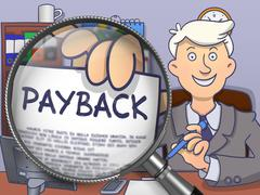 Payback through Lens. Doodle Style - stock illustration