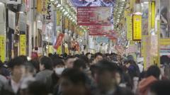 Sunday Night Shopping Crowds Stock Footage