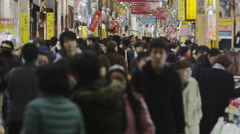 Sunday Night Shopping Crowds Stock Footage