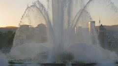 Magic Fountain of Montjuïc Stock Footage