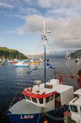 Portree Harbour, Isle of Skye, Portree (German: the port of the King) is the - stock photo