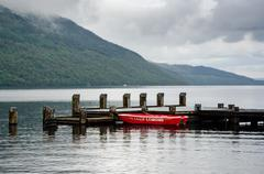 Loch Lomond, Loch Lomond, with an area of ??about 71 square kilometers the Stock Photos