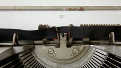 Typewriter countdown numbers Stock Footage