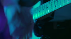 Guitars in live action at a concert Stock Footage