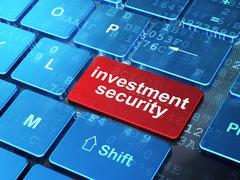 Security concept: Investment Security on computer keyboard background - stock illustration