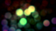 Colored Bokeh Loop Shiny Background Falling Stock Footage