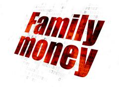 Banking concept: Family Money on Digital background Stock Illustration