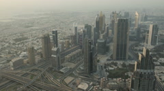 Time lapse of sunset on downtown Dubai Stock Footage