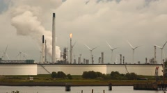 Refinery and power plant Stock Footage