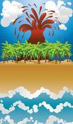 Volcano island Piirros
