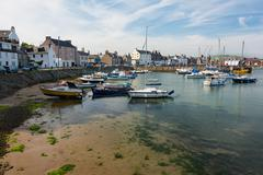 Port of Stonehaven, Stonehaven is a small port town in Kincardineshire Stock Photos