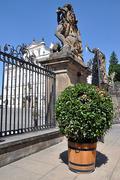 Gateway at Prague Castle, Czech Republic, Europe Stock Photos