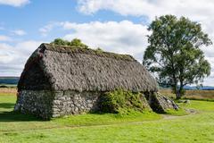 Memorial at Cawdor Castle, Cawdor Castle is a castle a few kilometers north-east Stock Photos