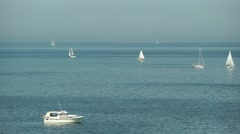 Sailing Boats on the Baltic Sea  Segelboote auf der Ostsee (close-up) Stock Footage
