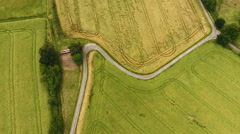 Aerial view of German landscape Stock Footage
