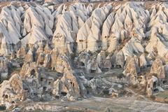 Rock formations dwellings, Cappadocia, Anatolia,Turkey Stock Photos