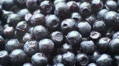 Rotation Blueberries Background - stock footage