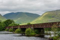 Bridge at Kilchurn Castle, Loch Awe Stock Photos