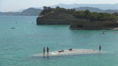 Canal d'Amour Beach Beautiful touristic place located in north area Corfu Island Stock Footage