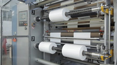 Rotating shafts on a factory - stock footage