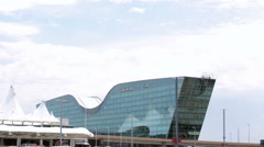 Denver International Airport with Westin hotel. Stock Footage