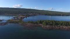 Beautiful birdview of lake superior Stock Footage