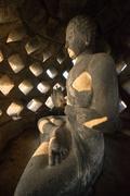 Statue in the Temple complex of Borobudur, Buddhist temple Stock Photos