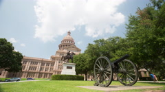 Austin, TX Capitol Building During the Day : Time Lapse - stock footage