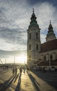 Saint Anne Church at sunset, Hungary, Budapest - stock photo