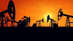 Oil pump oil rig energy - stock footage