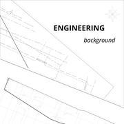Engineering background. Drawing sheet - stock illustration