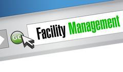 Facility management browser sign Stock Illustration