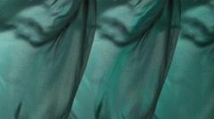Dark turquoise fabric background Stock Footage
