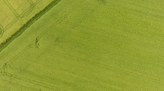 Aerial view of German landscape - stock footage