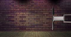 Simple Brick News Background Loop - stock footage