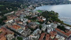 Aerial View of City Como - stock footage