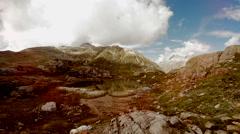 Colorful nature scenery of lake mountain landscape Arkistovideo