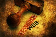 Censored web grunge concept Kuvituskuvat