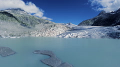 Ice glacier lake landscape. melting ice. global warming. climate change Stock Footage