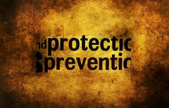 Protect prevent concept grunge concept - stock photo