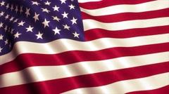USA American flag loop 4K Stock Footage