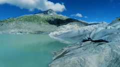 Glacier landscape scenery. peaceful nature background. melting ice background Stock Footage