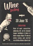 Wine tasting. Female hand holding a glass of wine - stock illustration