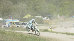 Enduro - Motorcycle Off-Road Racing: Speed, Tricks, Jumps. Motocross Stock Footage