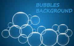 Abstract blue bubbles background. - stock illustration