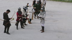 medieval battle archery - stock footage