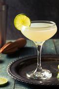 Classic Lime Daiquiri Cocktail Stock Photos