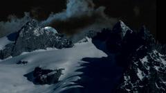 Full moon. moon raising. night sky. mountain panorama Stock Footage