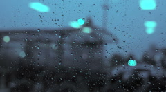 Rain day. raining. crying sadness sad. blurred background Stock Footage