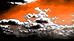 Clouds Timelapse Seamless Loop Abstract Art Animation - stock footage